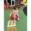 Being active, having fun bouncing!