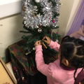 We loved decorating our tree in Nursery