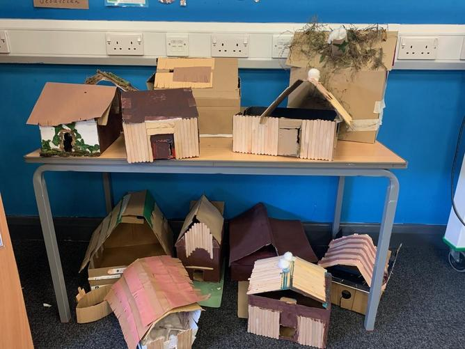 We have had a fantastic few days creating houses in the style of the Anglo-Saxons.
