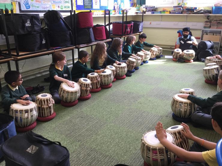Drumming tabla style!