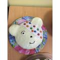 Pudsey Bear made by Maya in Year 4
