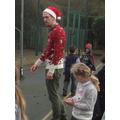 Mrs Barrett looking very Christmassy!