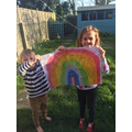 We loved making our Rainbow Pictures.