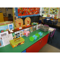 Snack area.  The children have to 'buy' their food & drinks.
