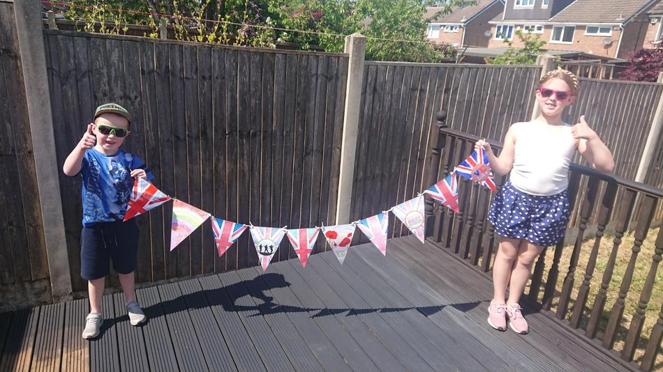 ...and getting ready for her VE Day celebrations!