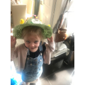 Evie W looks great in her Easter Bonnet.