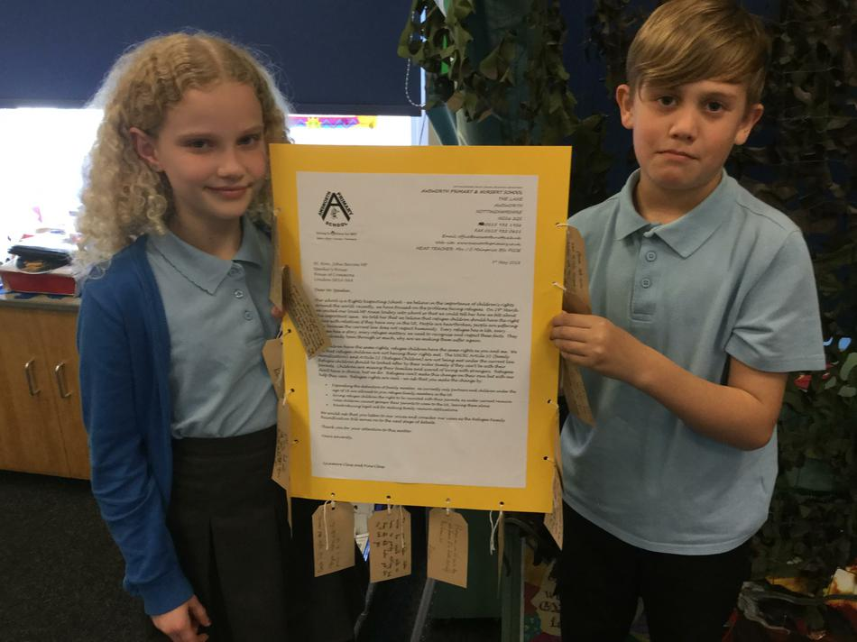 Our letter to the Speaker of the House of Commons