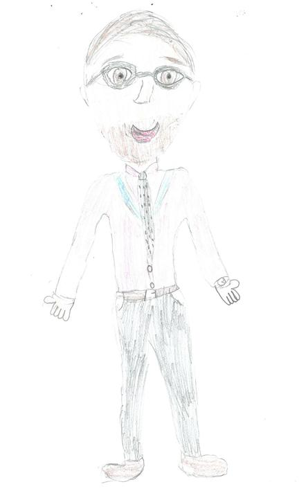 Larch Class - Mr Ashton by Georgie M age 10