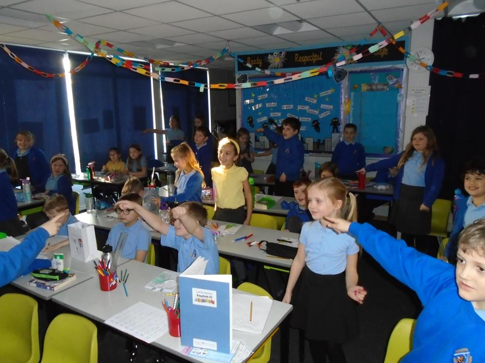 Today we had our virtual pantomime, the children loved being able to get up in their seats