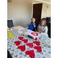 Preparing a heart rainbow