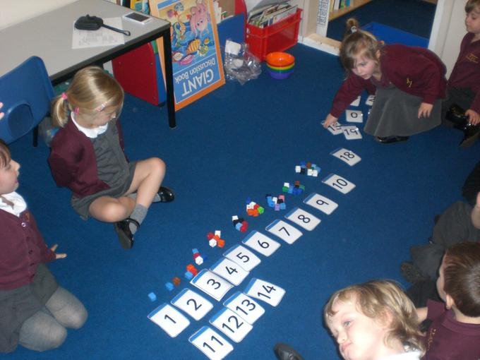 Matching amounts to numerals