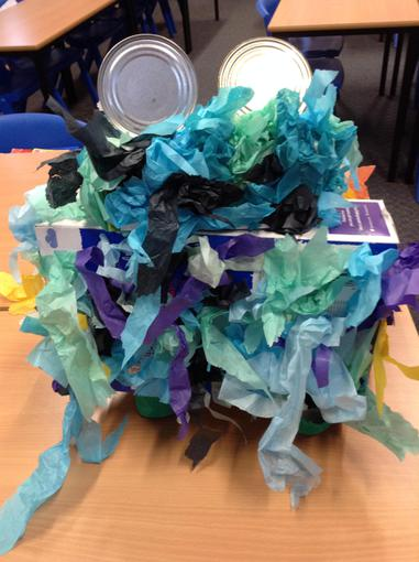 We designed and created our own 3D Aliens.