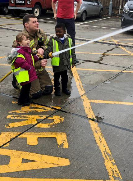 Reception visit to Fire Station - Dec 2019