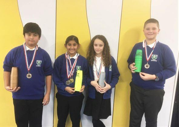 Year 6 win Speed Stacking Competition - Nov 2019