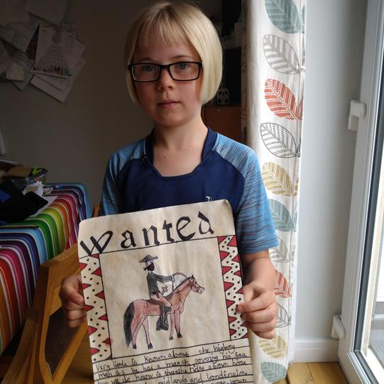 Olive's 'WANTED' poster