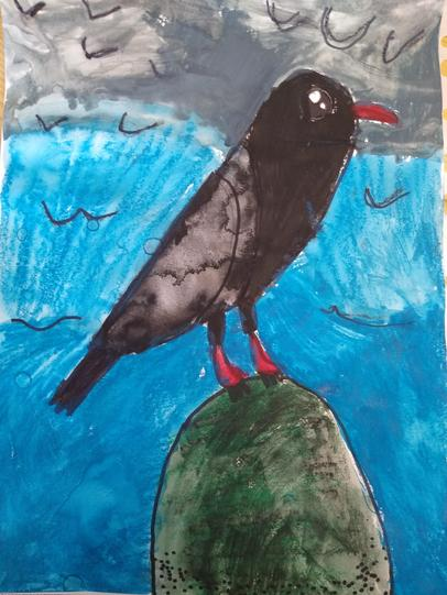 Toby's fantastic water colour painting
