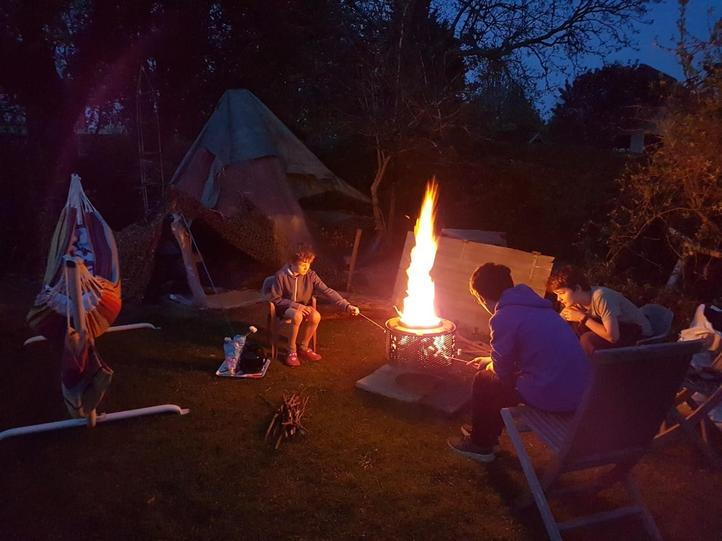 You can't beat a garden campfire!