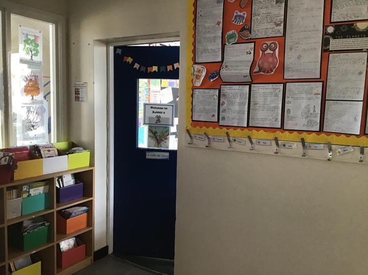The classroom door.