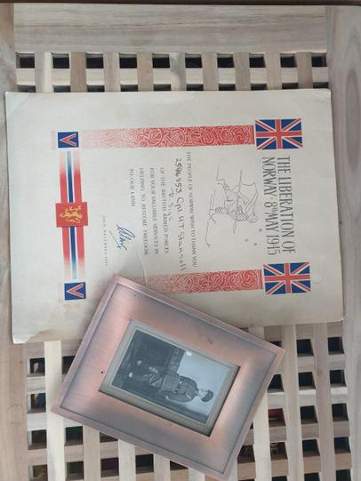 Grandad's certificate!