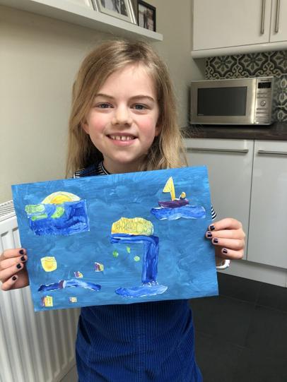 Elsa's Marc Martin inspired painting