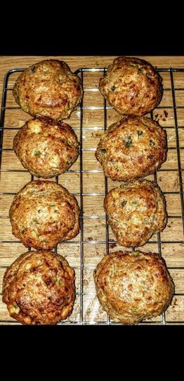 Foraged scones - yummy!