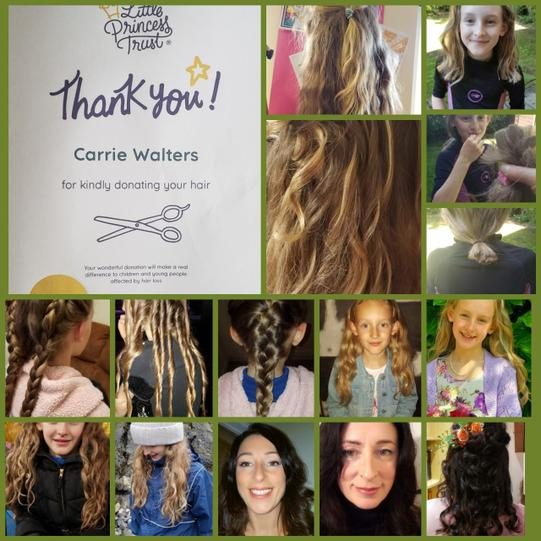 """Carrie donated 16 """" of hair!"""