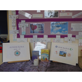 RE and PSHE Big books in a reflection area.