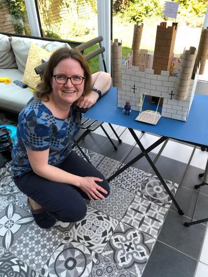 Mrs BG building castles!