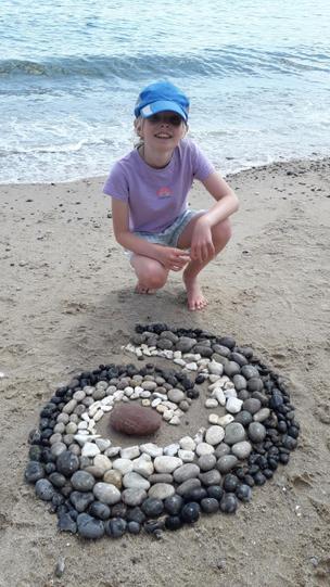 Sophie's beach art