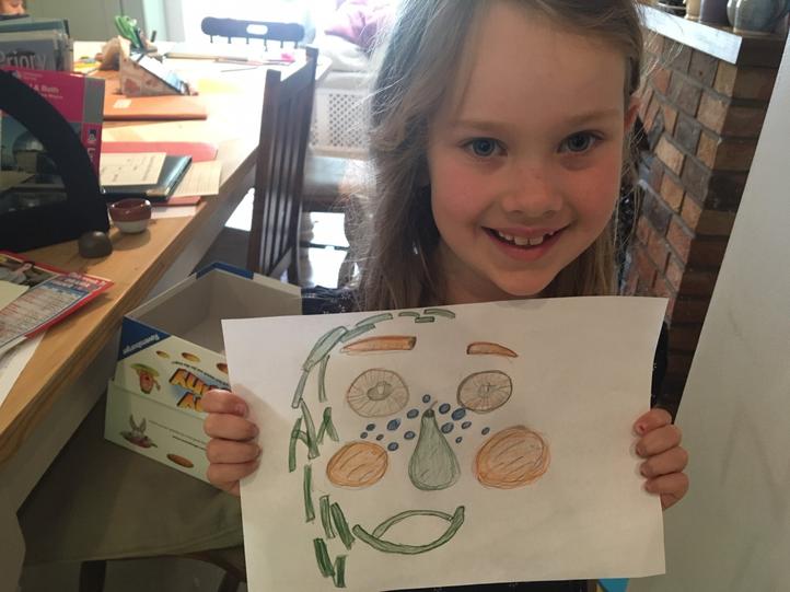 Arabella's fruit and veg portrait