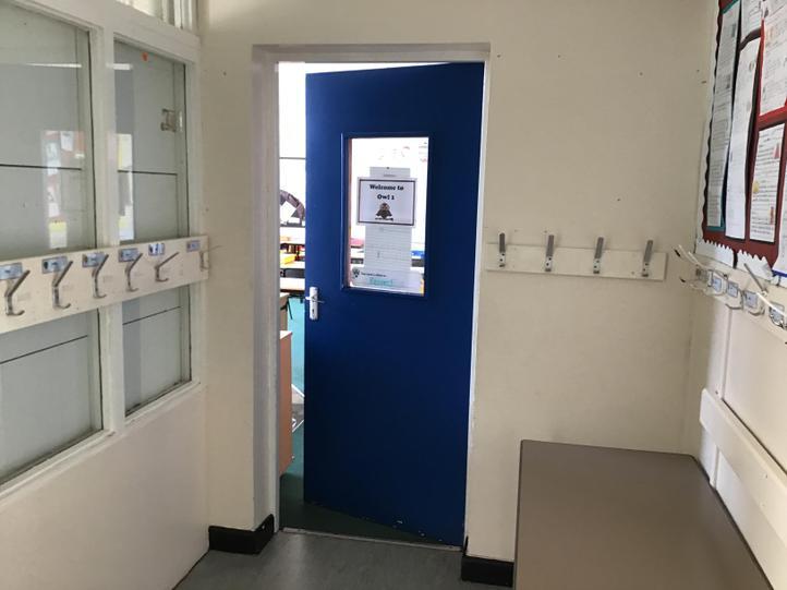 This is the classroom door