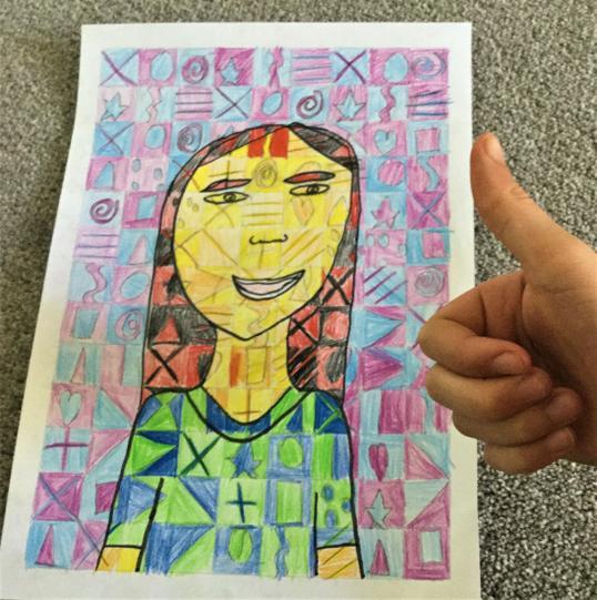 Gabby's Chuck Close inspired portrait