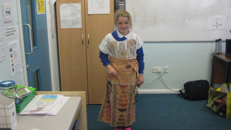 Dressing up as a Mayan woman