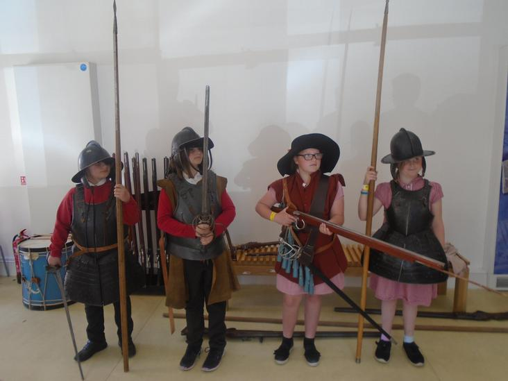 Year 5 visit the Civil War Centre in Newark