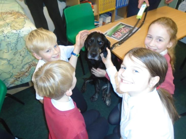 Year 6 With Guide Dog