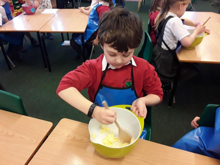 Year 2 Making Shortbread