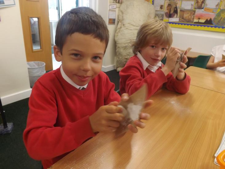 Year 3 Experimenting with Rocks