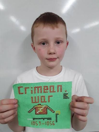 Year 4 Victorian Crosstitch