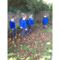 We walked through crunchy leaves.