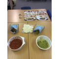 We made salsa, guacamole and sombrero biscuits!