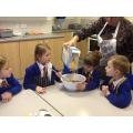 We made fairtrade chocolate krispies.