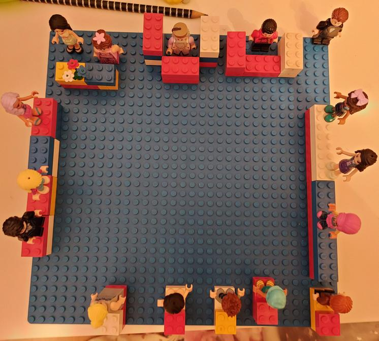 Well done Sophie for her awsome LEGO court Model
