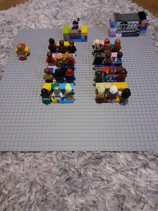 Check out Frankie's LEGO court model. The detail is amazing!