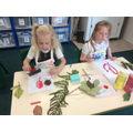 printing & rubbings using leaves