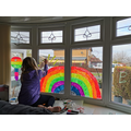 Izzy's rainbow spreading happiness and positivity