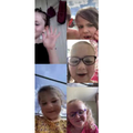 Ellie,Lexi,Robyn,Elise&Sienna enjoying a zoom call