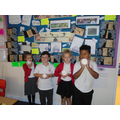 We followed instructions to make stone age pots