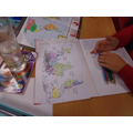 Placing Kandinsky's paintings onto a world map