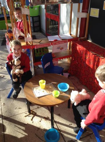 Treats at the pet cafe.