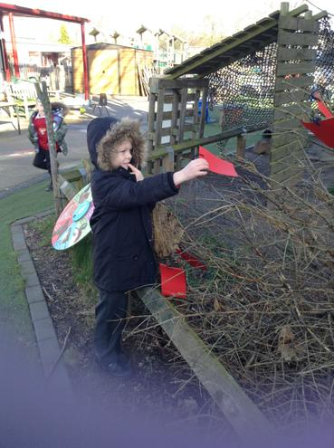 Putting our wishes on the Wish tree.